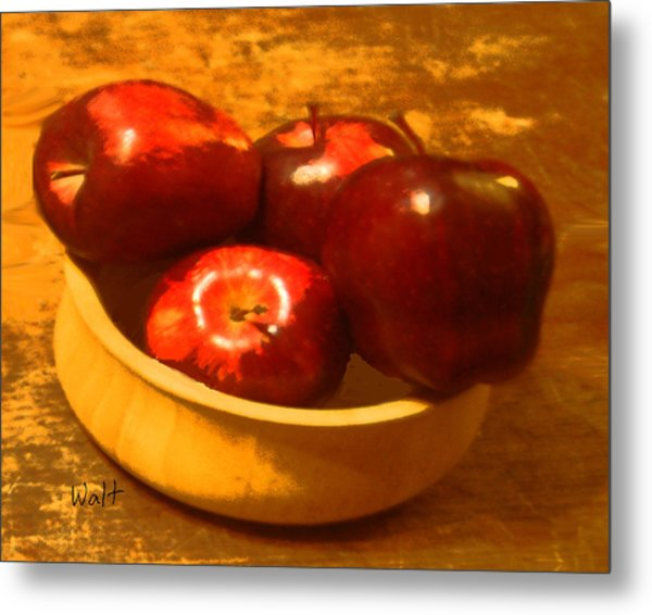 Apples In A Bowl Metal Print