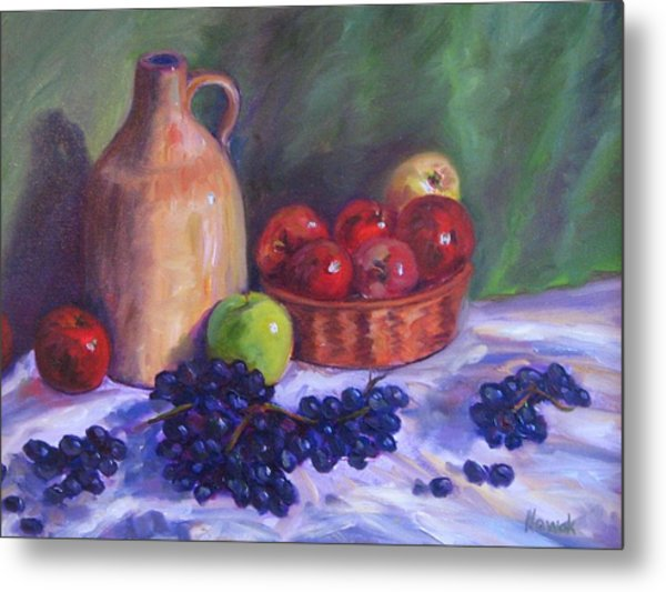 Apples With Grapes Metal Print by Richard Nowak