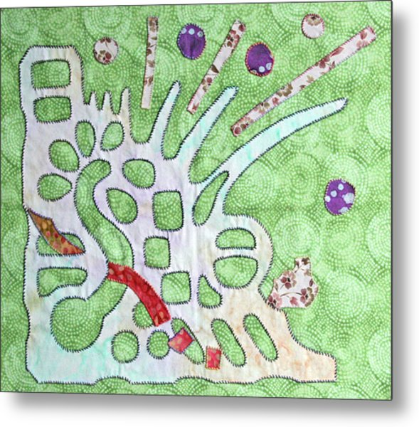 Applique 7 Metal Print by Eileen Hale