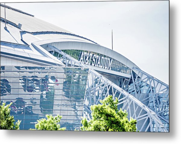 Metal Print featuring the photograph April 2017 Arlington Texas Att Nfl Cowboys Football Stadium  by Alex Grichenko