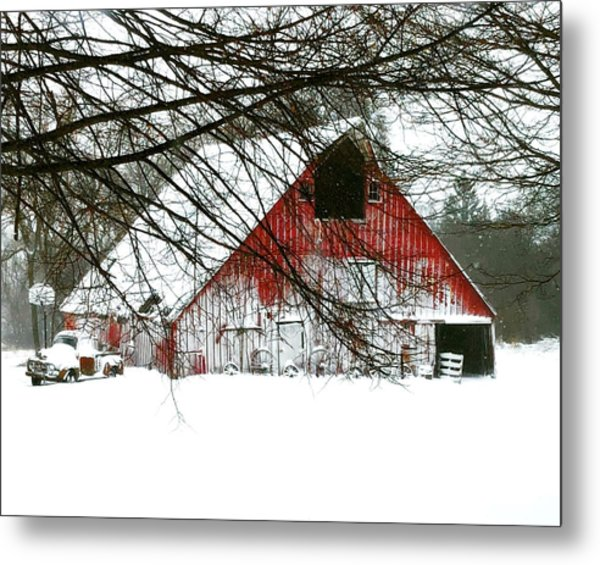 April Blizzard Metal Print