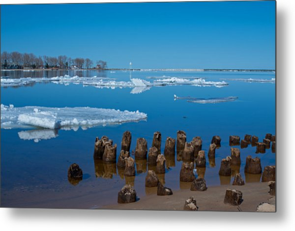 April Ice Metal Print
