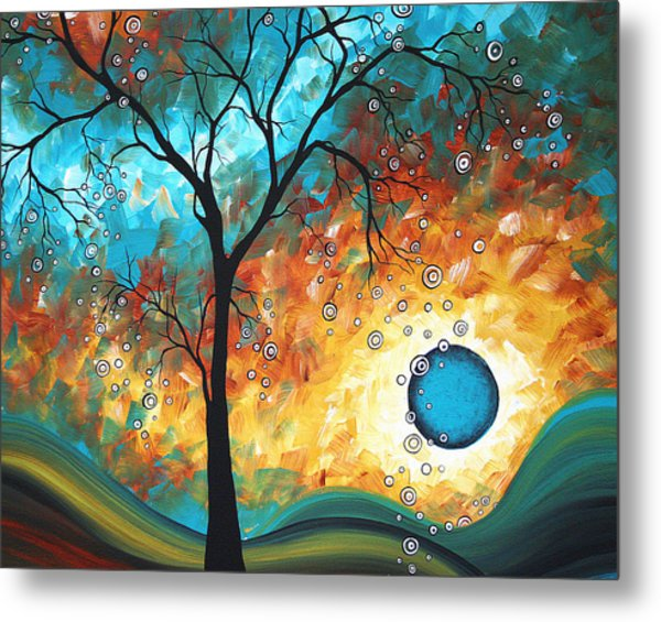 Aqua Burn By Madart Metal Print