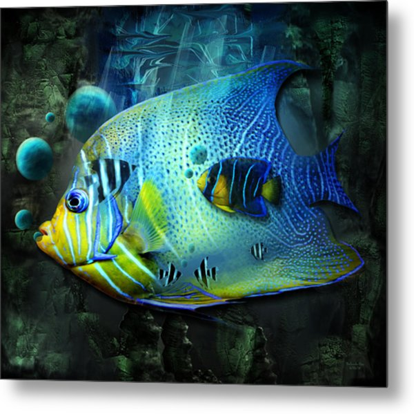 Aqua Fantasy Art World Metal Print