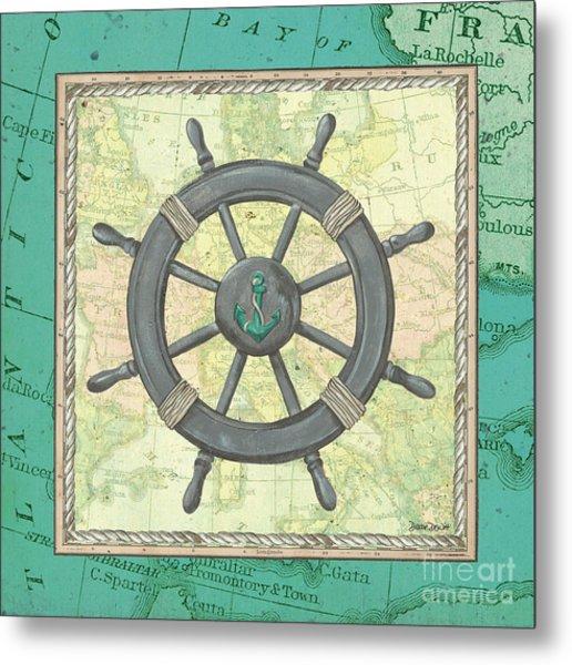 Aqua Maritime Metal Print