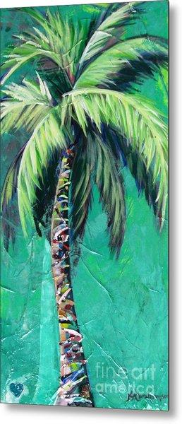 Aqua Palm Metal Print