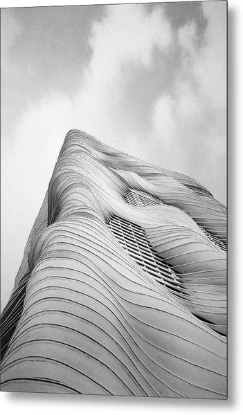 Aqua Tower Metal Print
