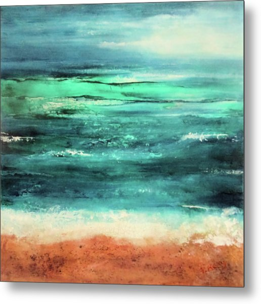 Metal Print featuring the painting Aquamarine  by Valerie Anne Kelly