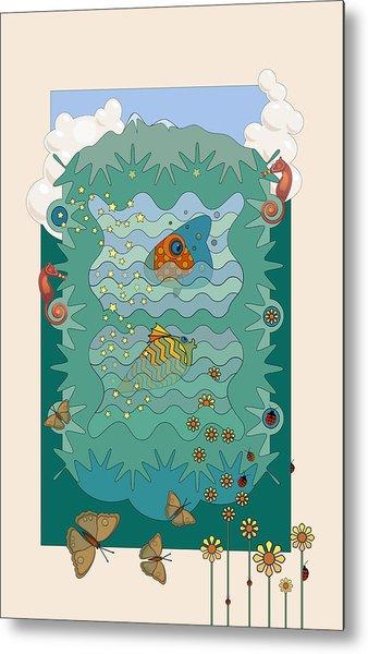 Aquarium Metal Print by Edward Kinney