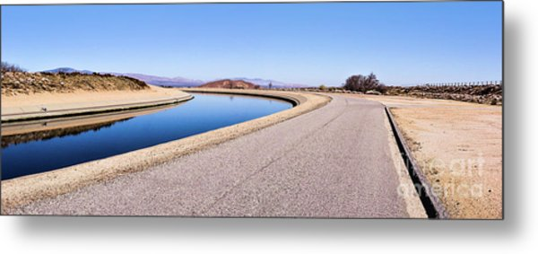 Aqueduct Sharp Turn Metal Print