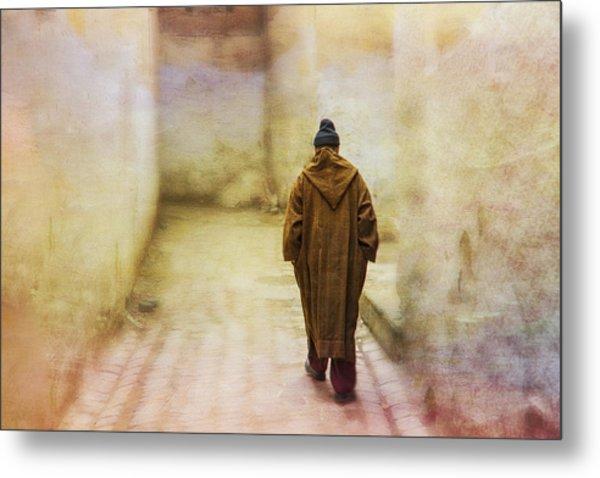 Arab Man Walking - Morocco 2 Metal Print