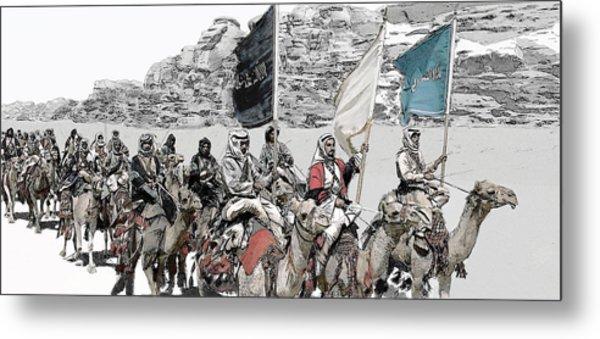Arabian Cavalry Metal Print