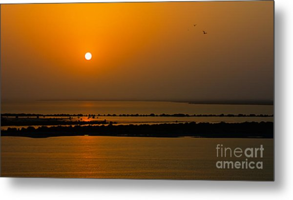Arabian Gulf Sunset Metal Print