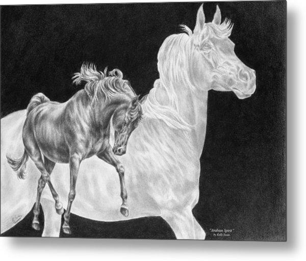 Arabian Horse Spirit Print Metal Print