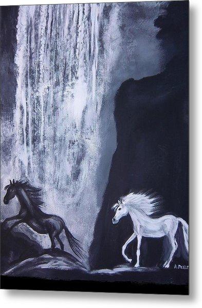 Arabians At Night Metal Print