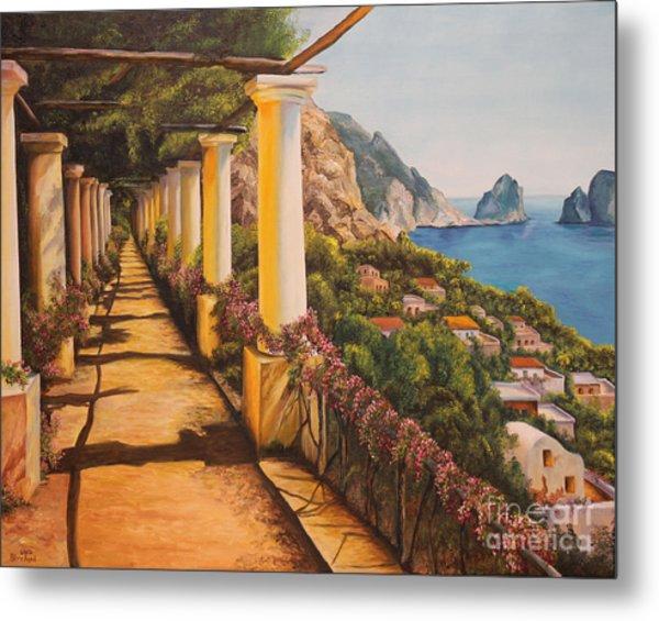 Arbor Walk In Capri Metal Print