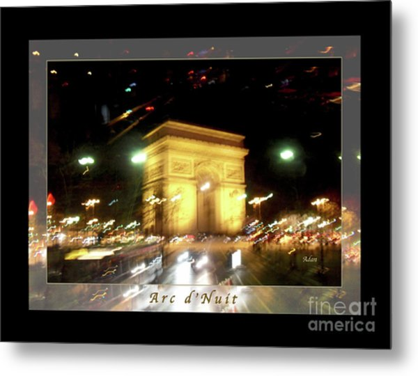 Arc De Triomphe By Bus Tour Greeting Card Poster V1 Metal Print