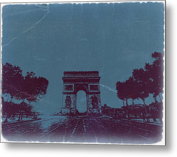 Arc De Triumph Metal Print by Naxart Studio