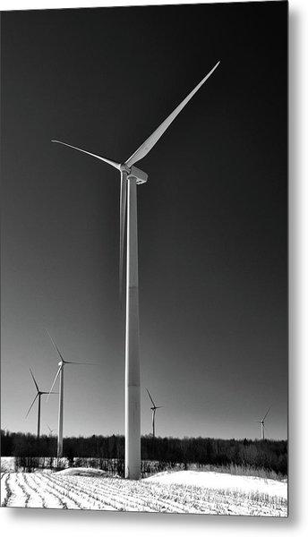 Arcade Wind Turbines 6557 Metal Print