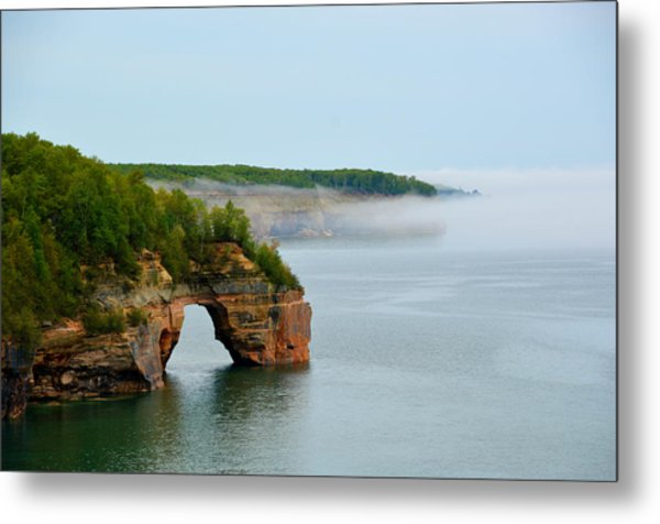 Arch Over Superior Metal Print