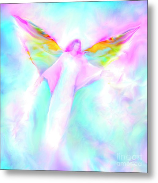 Archangel Gabriel In Flight Metal Print
