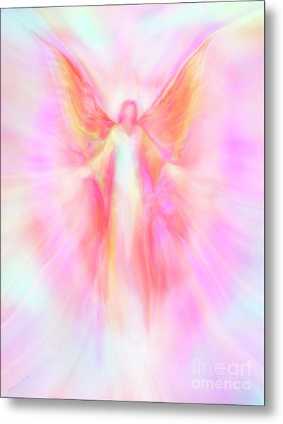 Archangel Metatron Reaching Out In Compassion Metal Print