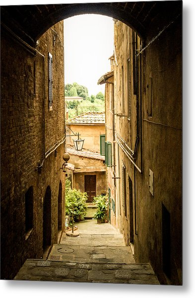 Arched Alley Metal Print