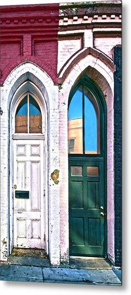 050 - Door One And Door Too Metal Print