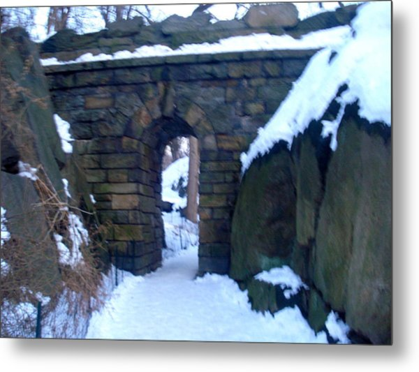 Arches And Bridges - Central Park Nyc Metal Print
