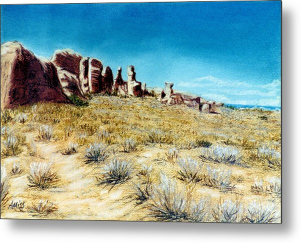 Arches II Metal Print