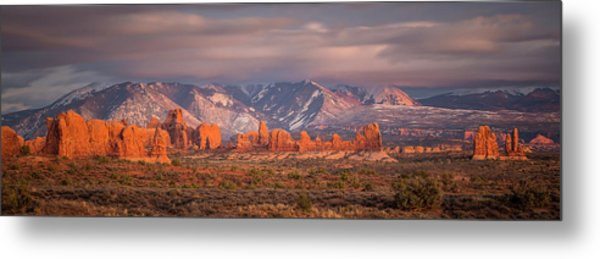 Arches National Park Pano Metal Print