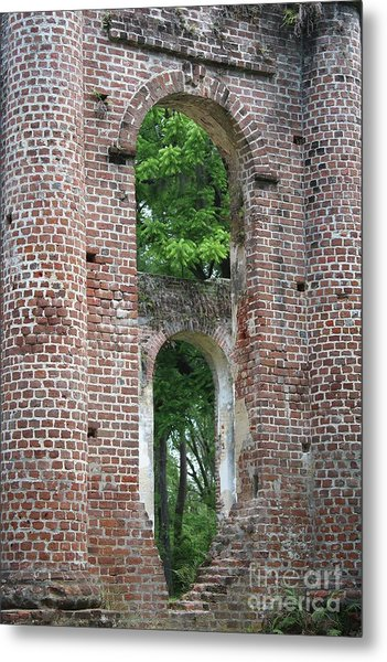 Arches Of Old Sheldon Church Ruins Metal Print