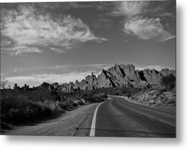 Arches Road Metal Print