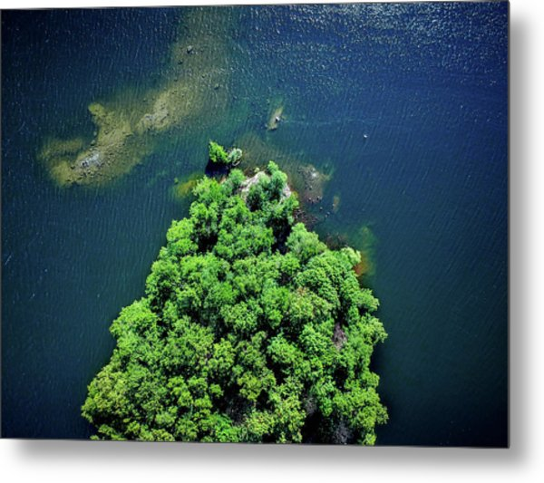 Archipelago Island - Aerial Photography Metal Print