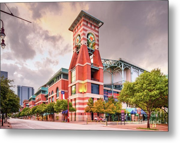 Architectural Photograph Of Minute Maid Park Home Of The Astros - Downtown Houston Texas Metal Print