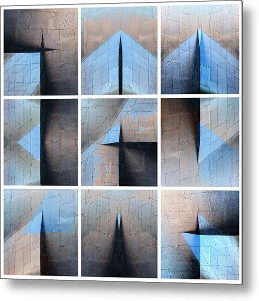Architectural Reflections Nine-print Panel Metal Print