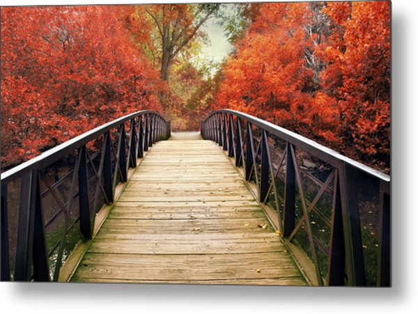 Metal Print featuring the photograph Ardent Autumn by Jessica Jenney
