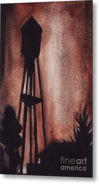 Ardmore Watertower Metal Print by Ron Erickson