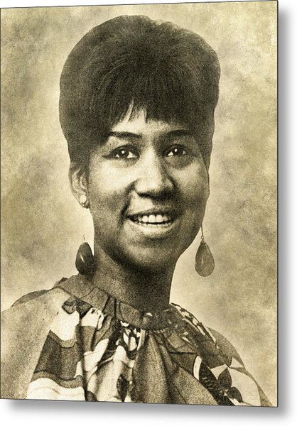 Aretha Franklin Queen Of Soul Metal Print