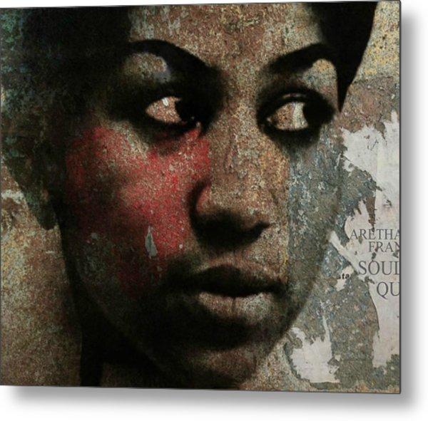 Aretha Franklin - Tribute Metal Print