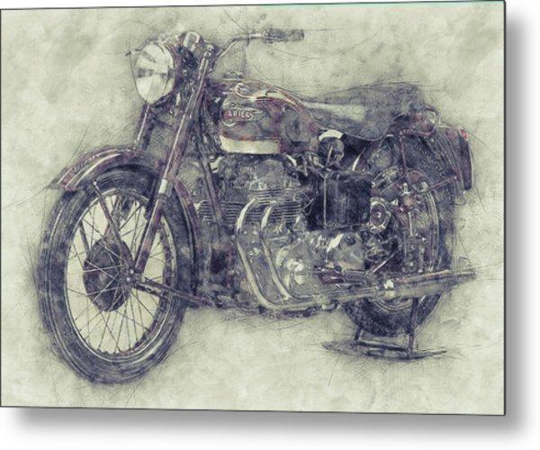 Ariel Square Four 1 - 1931 - Vintage Motorcycle Poster - Automotive Art Metal Print