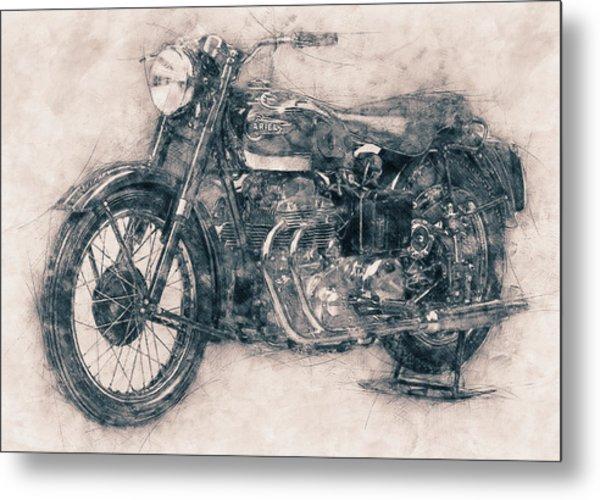 Ariel Square Four - 1931 - Vintage Motorcycle Poster - Automotive Art Metal Print