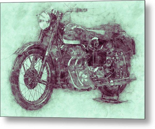 Ariel Square Four 3 - 1931 - Vintage Motorcycle Poster - Automotive Art Metal Print