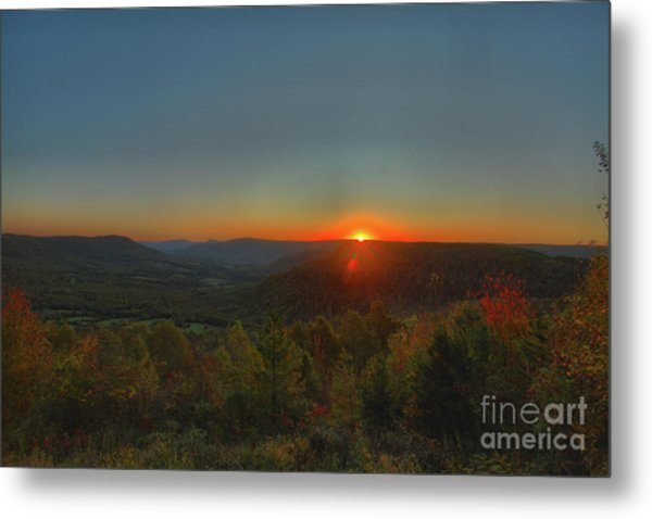 Arkansas Sunrise Metal Print by Kevin Kuchler