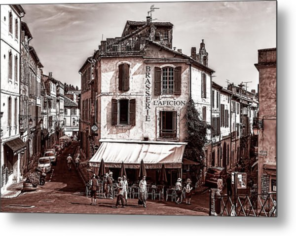 Arles, France, In Sepia Metal Print