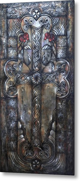 Armenian Cross Stone Metal Print