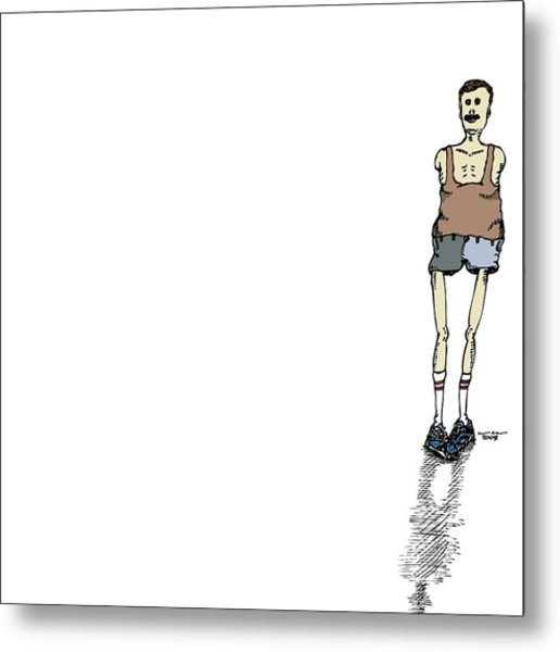 Armless Man With Short Shorts Metal Print by Karl Addison