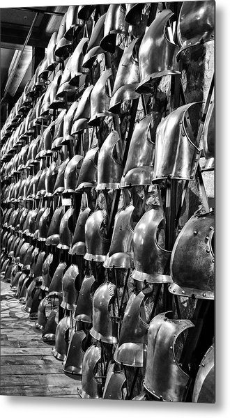 Armor Row Metal Print