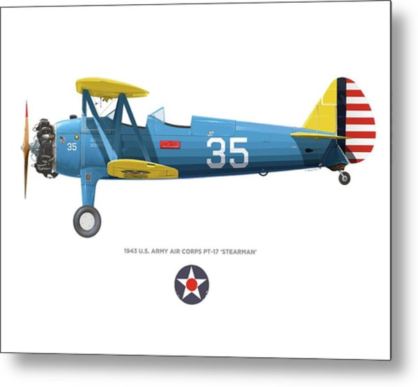 Army Air Corps Pt-17 Metal Print