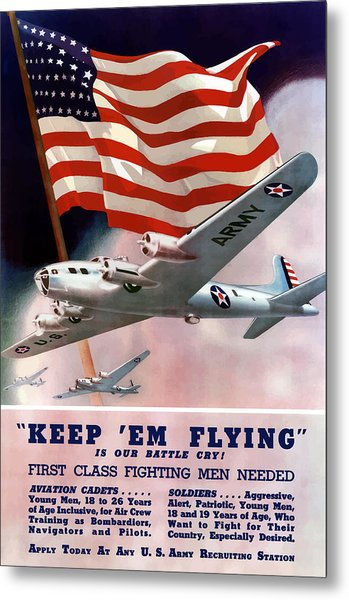 Army Air Corps Recruiting Poster Metal Print